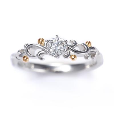 Ange 婚約指輪 エレガント キュート ストレート プラチナ