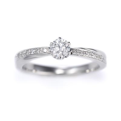 Eternite 婚約指輪 エレガント 個性派 S字(ウェーブ) プラチナ