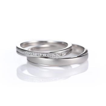 Eternite 結婚指輪 シンプル エレガント ストレート プラチナ