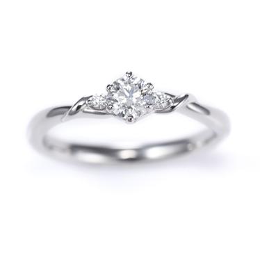 Lien 婚約指輪 エレガント キュート 個性派 S字(ウェーブ) プラチナ