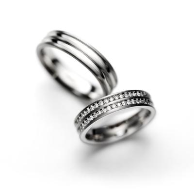 baumkuchen 結婚指輪 シンプル エレガント ストレート 幅広 プラチナ