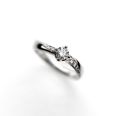 créme d'angeⅠ 婚約指輪 エレガント S字(ウェーブ) プラチナ