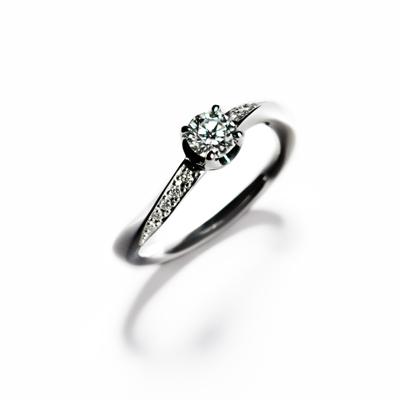 éclairⅡ 婚約指輪 エレガント S字(ウェーブ) プラチナ