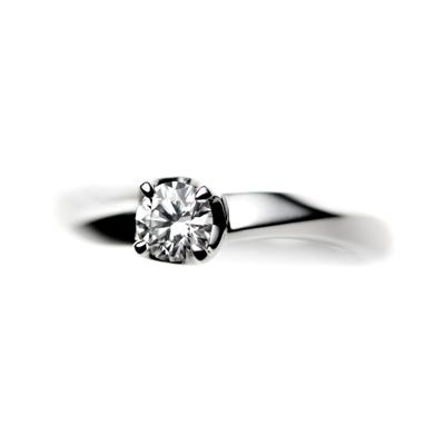 éclairⅠ 婚約指輪 シンプル S字(ウェーブ) プラチナ