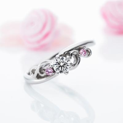 La Distance 婚約指輪 エレガント キュート ストレート プラチナ