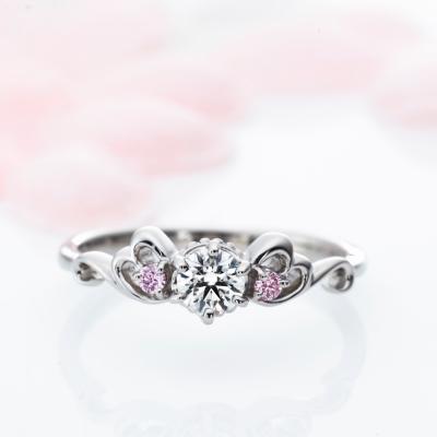 La Trinite 婚約指輪 エレガント キュート ストレート プラチナ