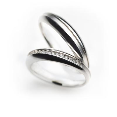 macaron 結婚指輪 エレガント 個性派 ストレート 幅広 プラチナ