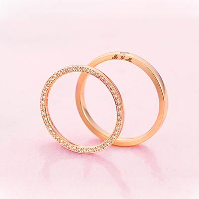 No.1 結婚指輪 エレガント キュート 個性派 ストレート ピンクゴールド