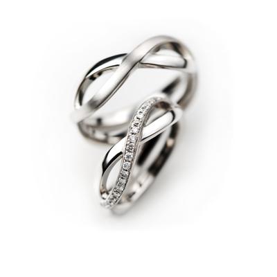 pont-neuf 婚約指輪 結婚指輪 エレガント 個性派 S字(ウェーブ) 幅広 プラチナ