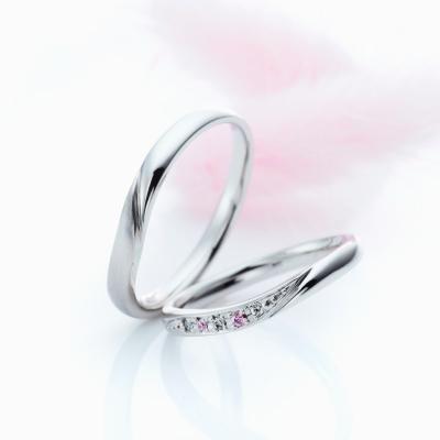 Une Corde 結婚指輪 キュート S字(ウェーブ) プラチナ