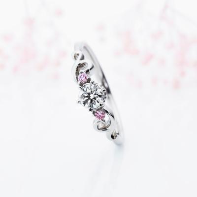Une Tresse 婚約指輪 エレガント キュート ストレート プラチナ
