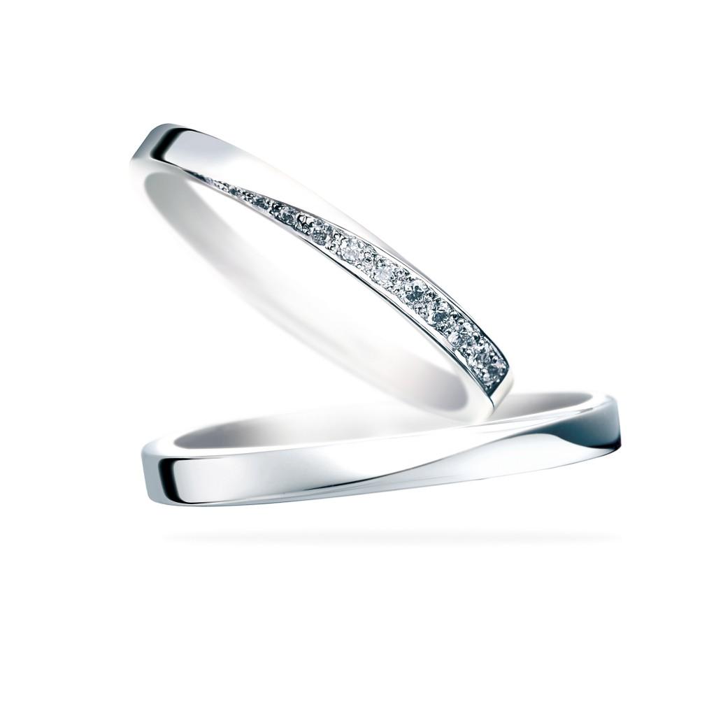 Stardust-スターダスト- 結婚指輪 シンプル S字(ウェーブ) エタニティ プラチナ