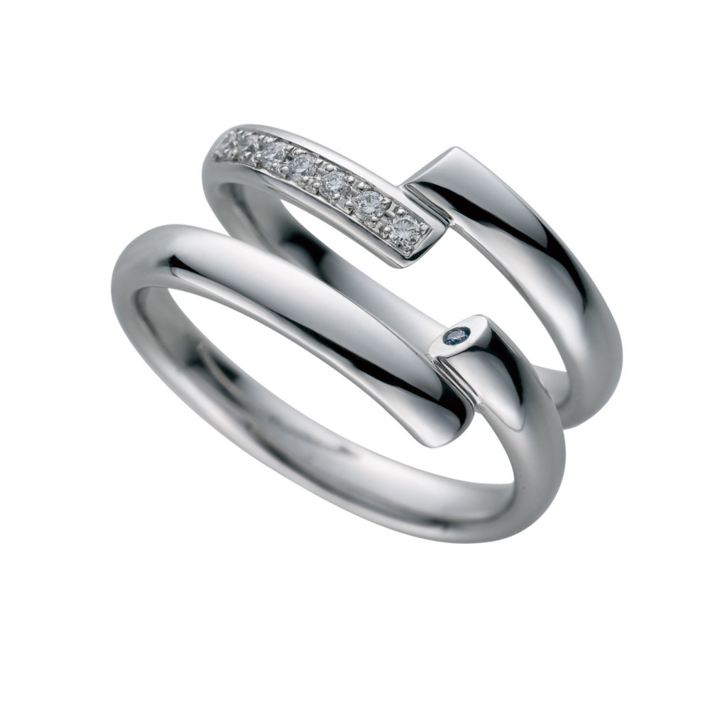 Spirl Life-スパイラルライフ- 結婚指輪 シンプル 個性派 S字(ウェーブ) プラチナ