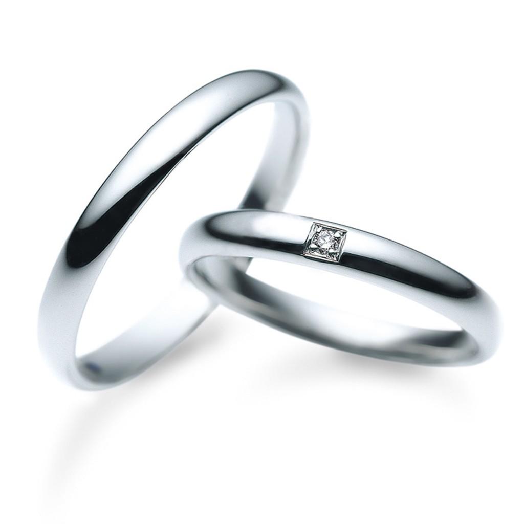 結婚指輪 シンプル ストレート プラチナ