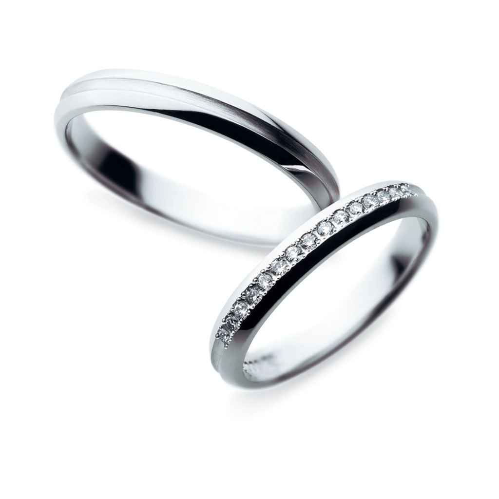 Sainte Pure 結婚指輪 シンプル エレガント ストレート エタニティ