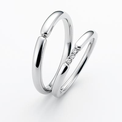 recontre-ラコントル- 結婚指輪 シンプル ストレート パラジウム