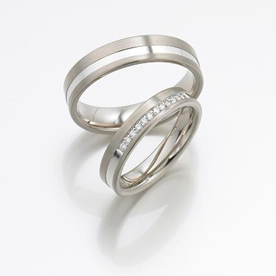 FISCHER 結婚指輪 エレガント ストレート ホワイトゴールド