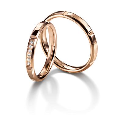 Chocolate 結婚指輪 キュート 個性派 ストレート ピンクゴールド