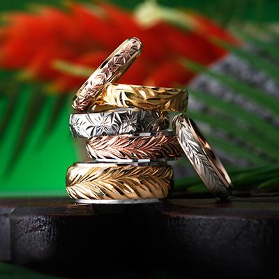 HEART ISLAND 結婚指輪 個性派 ストレート 幅広 プラチナ イエローゴールド ピンクゴールド コンビ