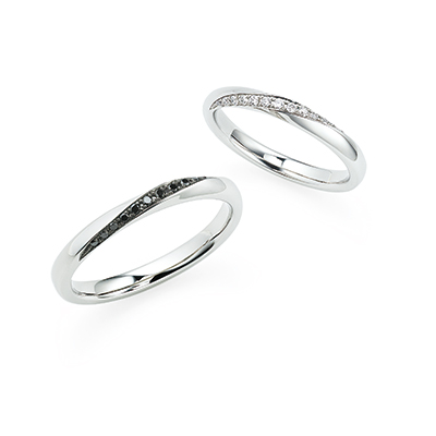 リンコントロ -出会い- 結婚指輪 エレガント 個性派 ストレート プラチナ