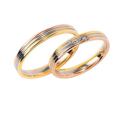 combination 結婚指輪 エレガント 個性派 ストレート コンビ