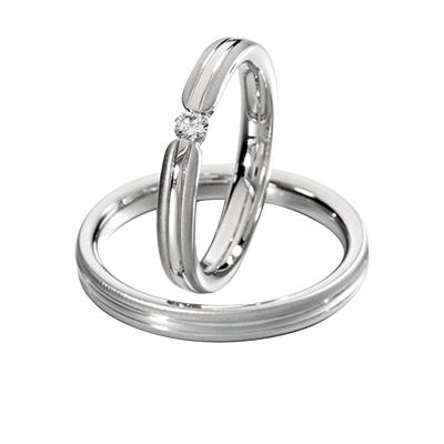blanc et blanc 結婚指輪 エレガント ストレート プラチナ