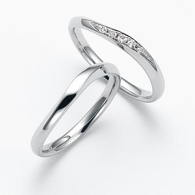 calme-カルム- 結婚指輪 シンプル エレガント ストレート S字(ウェーブ) パラジウム