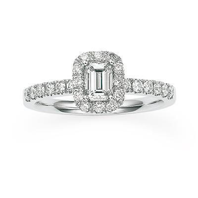ブーケ -花束- 婚約指輪 エレガント ストレート プラチナ