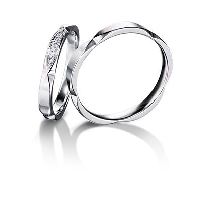 Sakura 結婚指輪 エレガント キュート 個性派 S字(ウェーブ) プラチナ