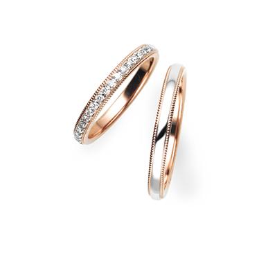 ミルアモーレ -永遠の愛- 結婚指輪 エレガント アンティーク ストレート コンビ