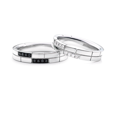 リンコントロ -出会い- 結婚指輪 キュート 個性派 ストレート プラチナ