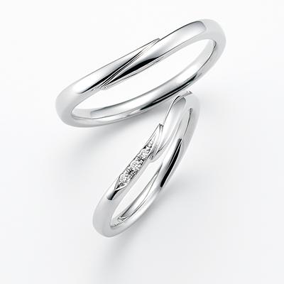 grandis-グランディス- 結婚指輪 エレガント S字(ウェーブ) プラチナ