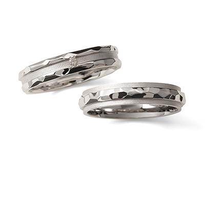 明鏡止水 - Meikyoshisui - 水紋 Mizumoku 結婚指輪 個性派 ストレート 幅広 プラチナ