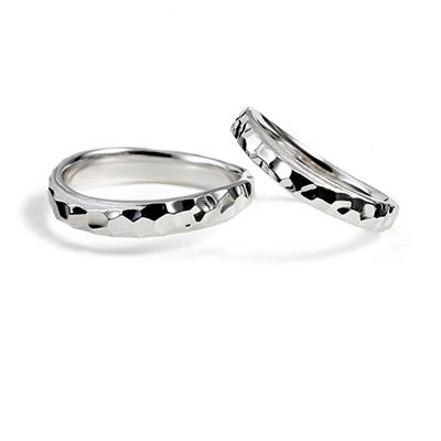 明鏡止水 - Meikyoshisui - 凛冽 Rinretsu 結婚指輪 個性派 S字(ウェーブ) プラチナ