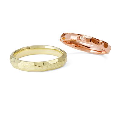 明鏡止水 - Meikyoshisui - 浮月 Utsuki 結婚指輪 個性派 ストレート イエローゴールド ピンクゴールド