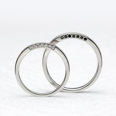 扇 結婚指輪 シンプル ストレート プラチナ
