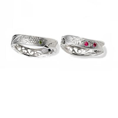 匠花Ⅰ - Shoka -  結婚指輪 キュート 個性派 S字(ウェーブ) プラチナ