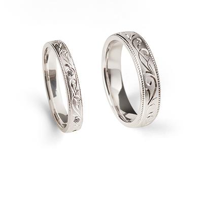 永遠 - Towa - 草織 Saori 結婚指輪 エレガント ストレート プラチナ