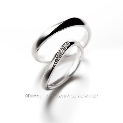 moon & desert 結婚指輪 シンプル S字(ウェーブ) プラチナ