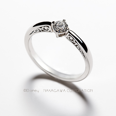 belle 婚約指輪 シンプル キュート 個性派 ストレート プラチナ