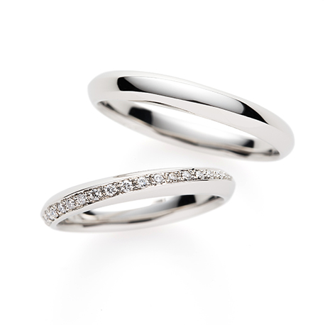 Bijou 結婚指輪 シンプル エタニティ プラチナ
