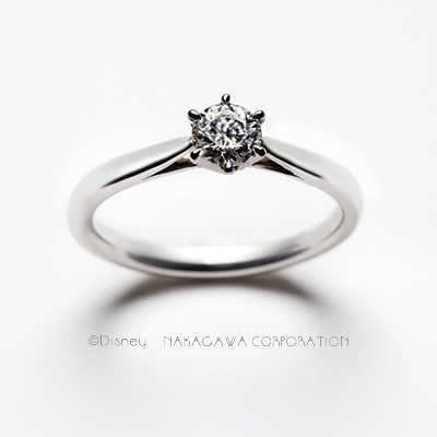 cinderella 婚約指輪 シンプル ストレート プラチナ