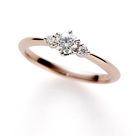 Propose 婚約指輪 キュート ストレート ピンクゴールド