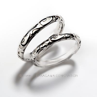 rococo 結婚指輪 シンプル 個性派 ストレート プラチナ