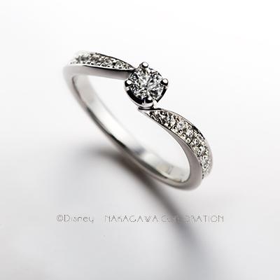 shellfish 婚約指輪 エレガント 個性派 S字(ウェーブ) プラチナ