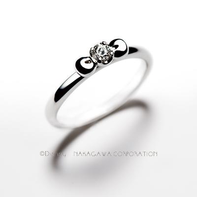 snow white 婚約指輪 シンプル キュート ストレート プラチナ