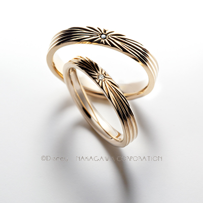 sun 結婚指輪 アンティーク 個性派 ストレート イエローゴールド