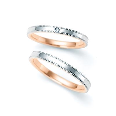 6R1F03 6R1F04 結婚指輪 キュート ストレート コンビ