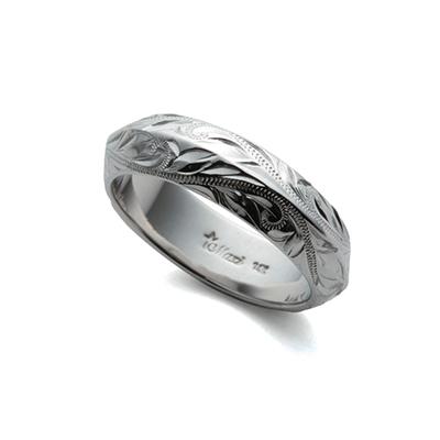 アングルリング 結婚指輪 個性派 幅広