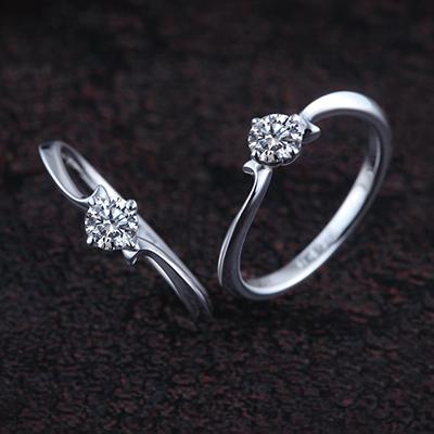 ROSE 婚約指輪 キュート S字(ウェーブ) プラチナ